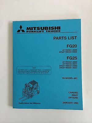 Mitsubshi Forklift Parts Manual Fg20 And Fg25