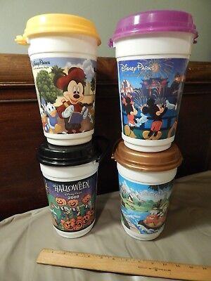 Walt Disney Parks [LOT of 4] Souvenir Buckets w/ Lids - Whirley *Halloween '08*](Peck Park Halloween)