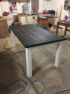 Rustic style hand crafted kitchen table
