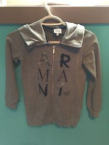 Girls Authentic Armani Junior Zip Hoodie - Size 8