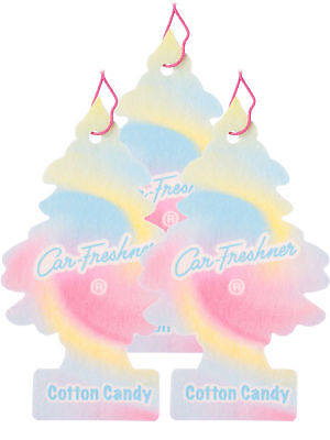 Little Trees Car Home & Office Cardboard Hanging Air Freshener Cotton Candy- - Cardboard Trees