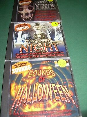 NEW! 3 CD SET Sounds of Halloween/Sounds of Horror/Very Scary Night (CD, 2007)