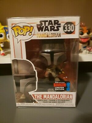 Funko Pop! Star Wars The Mandalorian #330 NYCC Exclusive with Protector