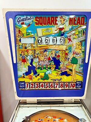 Gottlieb's Pinball Machine, Square Head RESTORED WoW!!! Better Than NEW