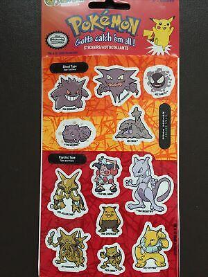 Pokemon Sticker von Sandylion, 12 Charaktere (Mewto Gengar..) 1999 Nintendo NEU