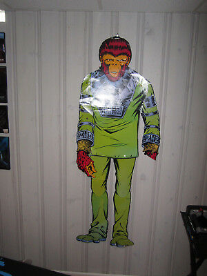 Vintage Life Size 1970s Planet of the Apes Galen Lifesize Figure Wall Plaque