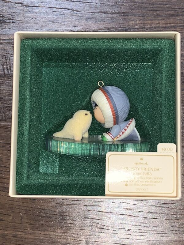 Hallmark Ornament 1983 FROSTY FRIENDS 4th in Series In BOX with TAG S2