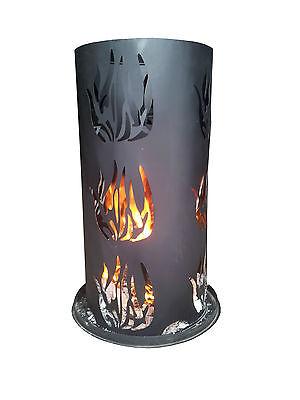 Feuersäule 80 cm hoch inkl. Feuerrost und Schürhaken Feuerschale Feuerkorb