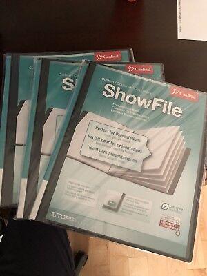 1 Cardinal ShowFile Display Book with Custom Cover Pocket Cardinal Custom Showfile Display Books