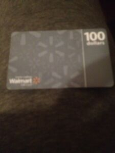 100$ Walmart gift card only 85$$