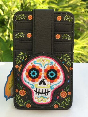 Loungefly Disney Pixar Coco Floral Cardholder 4 Slots ID Window Snap Close NWT