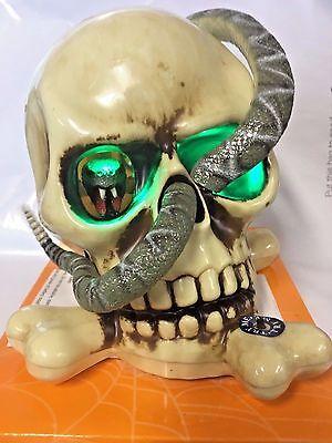 Halloween Animated Skull & Snake Light Up With Sound NEW Free Ship (Animated Snake)
