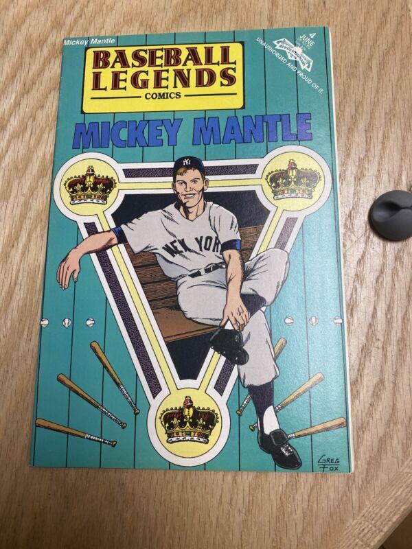 1992 Baseball Legends Comics Mickey Mantle Comic Issue #4 June