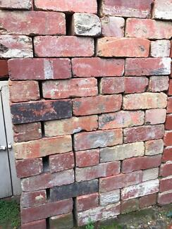 Old red bricks - Great for brick edging, paving etc