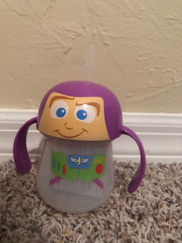 Baby Trainer Straw Cup, 7 Ounces Toy Story Buzz Lightyear Spill Proof Durable