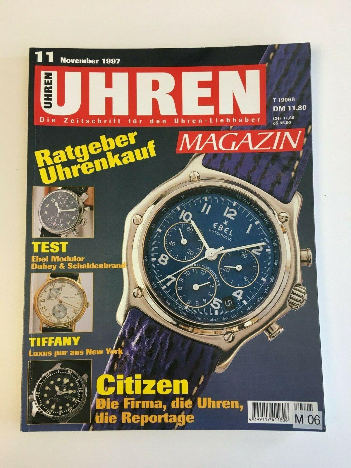 Uhren Magazin November 1997 - Ebel - Ratgeber Uhrenkauf ( M06 )