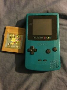 Gameboy Color with Pokémon Gold