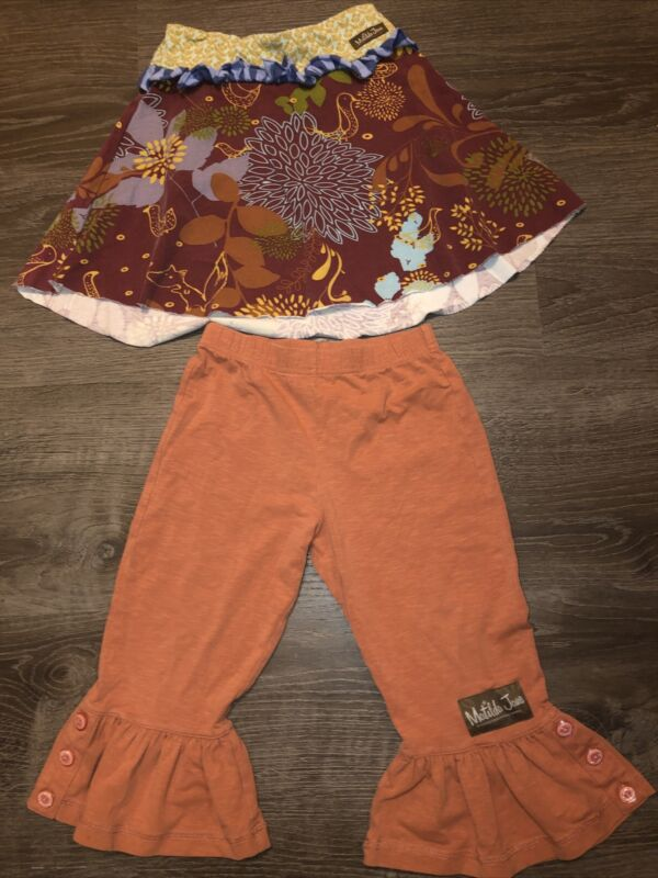 Toddler Girls Matilda Jane Character Counts Skirt Size 2 Multicolored With Pants