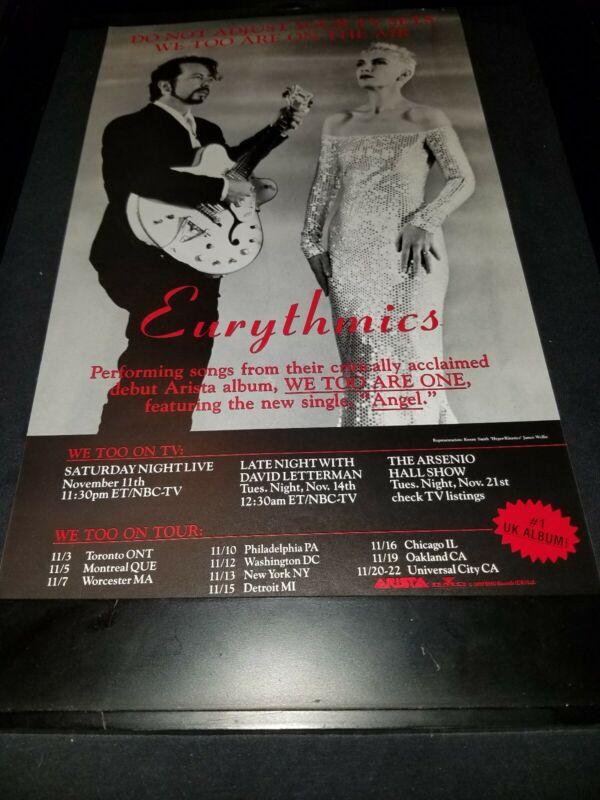 Eurythmics Angel Rare Original Radio Promo Poster Ad Framed!