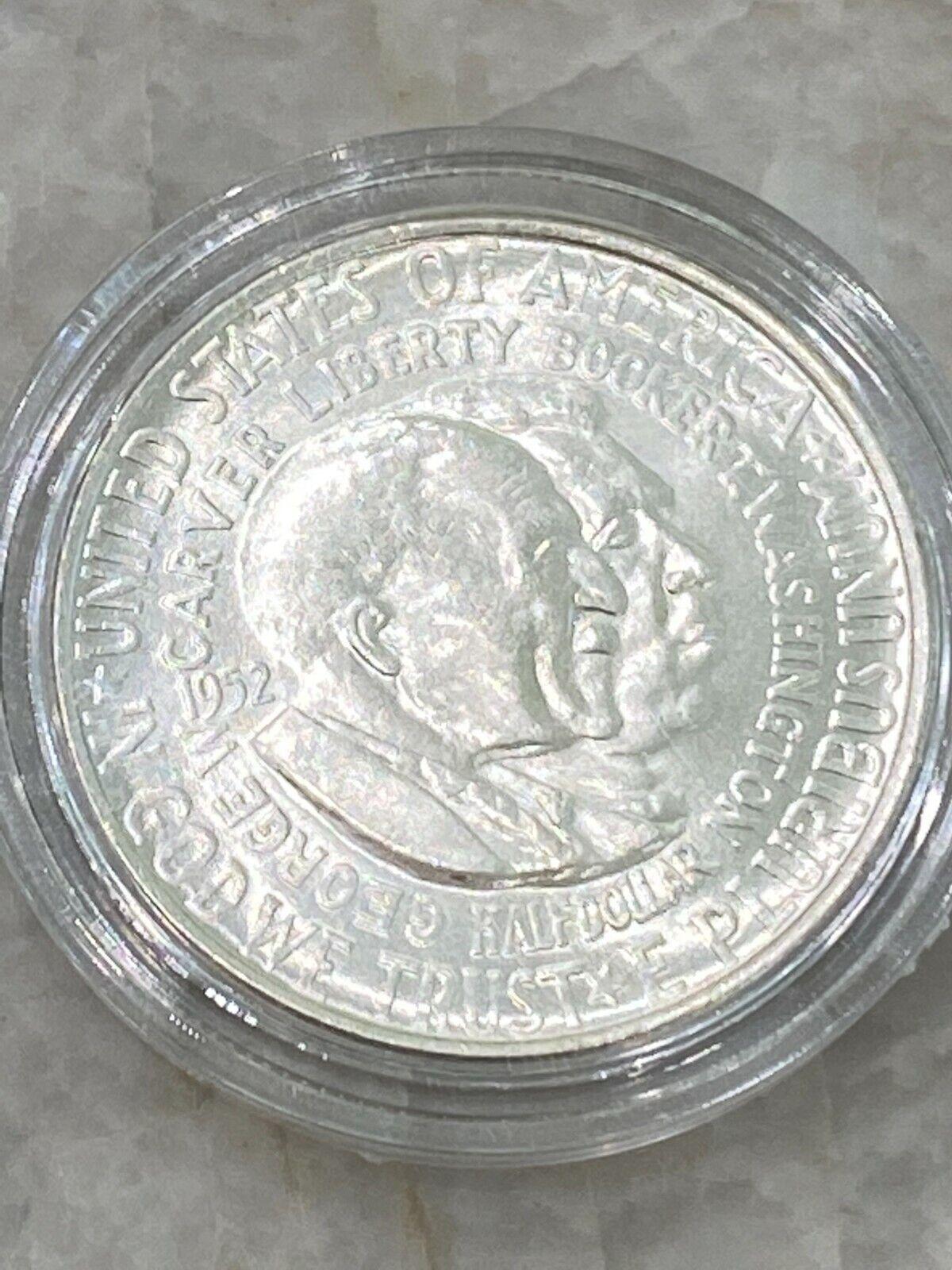 1952-P Washington - Carver 50C Silver Half Dollar - Commemorative - $9.55