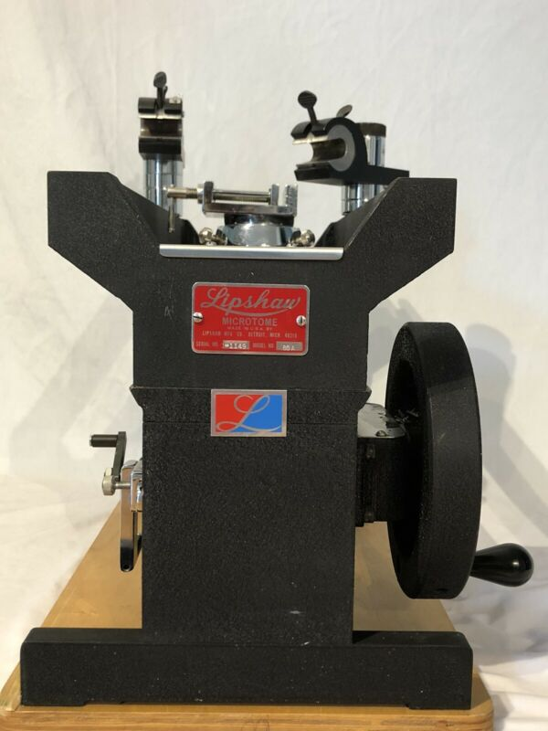 LIPSHAW SLIDING / SLEDGE MICROTOME, MODEL 80A Great Used Condition