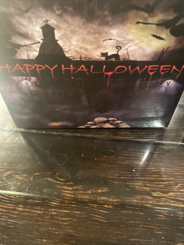 Halloween BlowMold Skeleton Head String Lights-New  never used with remote 16ft