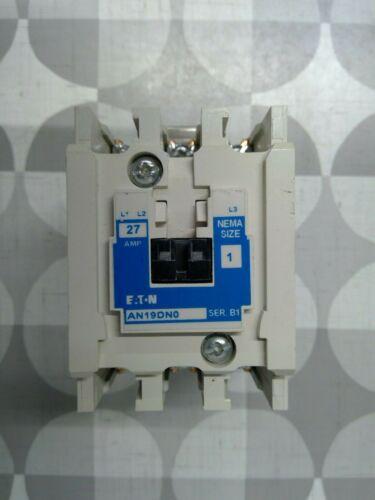 Eaton AN19DN0 27A Nema Size 1 Magnetic Motor Starter **Free Shipping**