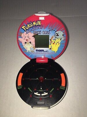 Vintage Pokemon Poke Ball Handheld Game 1999 Tiger Electronics Tested
