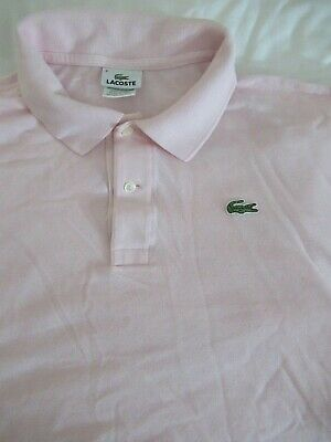 Lacoste Men's Polo Size 8 US 2XL SS Knit 100% Cotton French Design Made in Peru