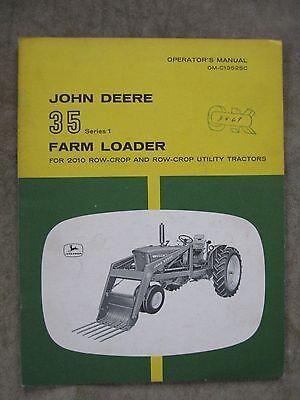 John Deere 35 Loader Operators Manual 2010 Tractors