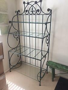 Iron and glass shelving unit Hornsby Hornsby Area Preview