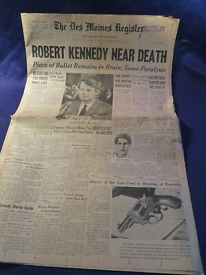 June 6Th 1968 The Des Moines Sunday Register Newspaper