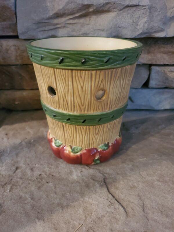 Yankee Candle Wax Tart Burner Warmer Apple Barrel Fall Country Tealight ceramic
