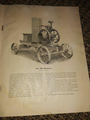 Smith Gasoline Engine Co.  Smith Manufacturing Hit & Miss Engine Book Original