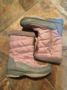 Pink and grey winter boots - size 13