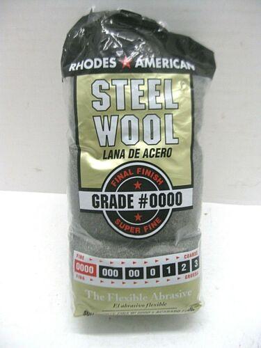 Rhodes American Steel Wool Super Fine Grade #0000 12 Pads Item # 10120000 NEW