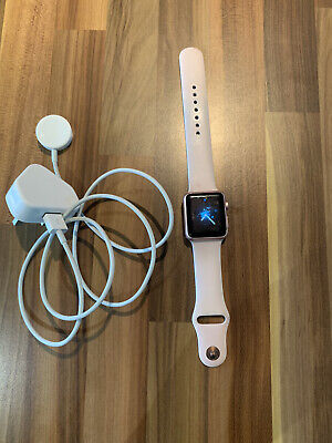 Apple Watch Series 1 38mm Rose Gold Aluminium Case Pink Sand Sport Band -...