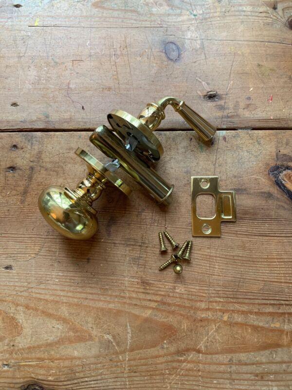 Brass Storm Door Or Screen Door Latch Set