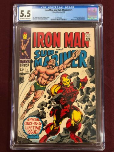 IRON MAN AND SUB MARINER 1 CGC 5.5 1968