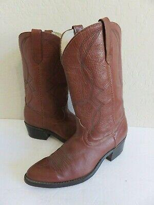 Dingo Acme Cowboy Western Boots Brown Leather Mens 9D