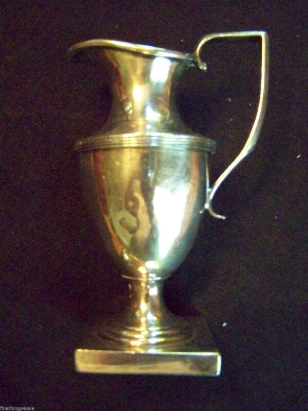 """ANTIQUE ENGLISH VICTORIAN CLASSICAL STYLE """"REVERE"""" LIKE FOOTED Sm FLORAL VASE"""