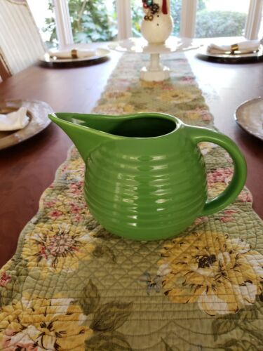 Vintage Bauer Pottery (2000) Ringware Green Pitcher - NEVER USED