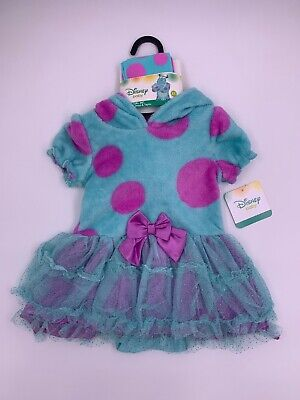 Monster Inc Infant Halloween Costume (Disney Store Baby Monsters INC Sully Halloween Costume Dress Tights 6-12)
