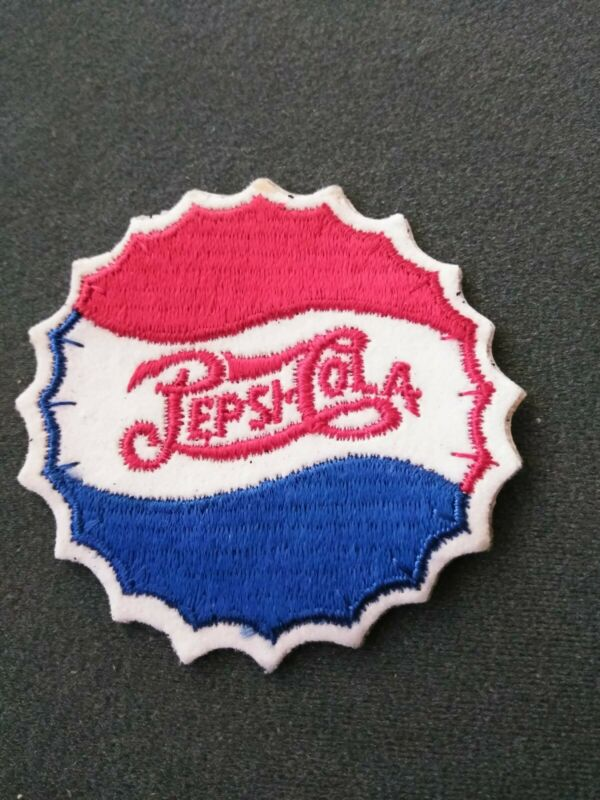 """VINTAGE Pepsi Cola Iron On Patch 3"""" NEVER USED OLD STOCK"""