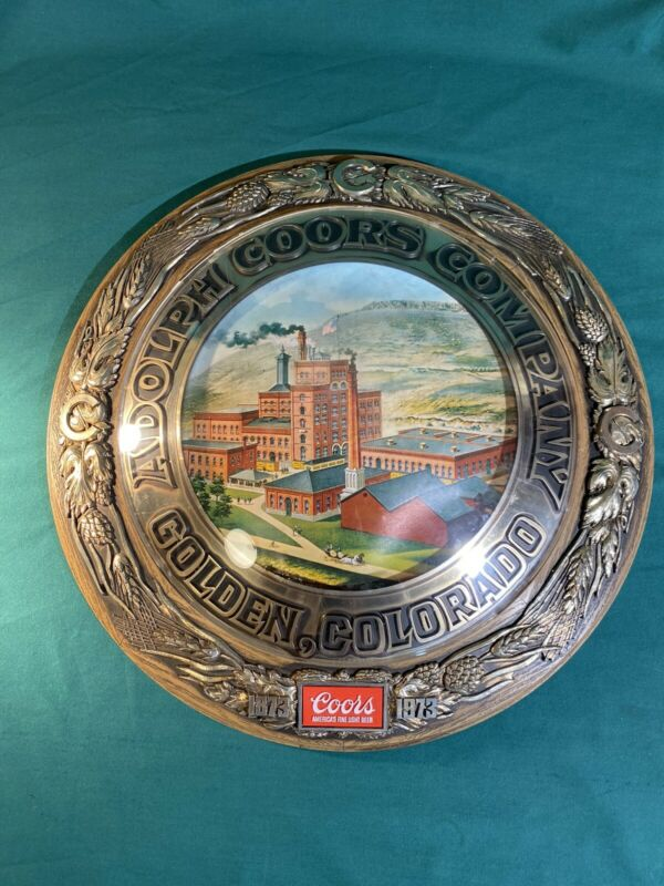 VINTAGE ADOLPH COORS COMPANY DOME SHAPED ROUND BEER SIGN 18""