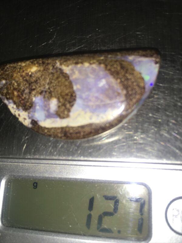 Large Boulder Opal Australia 1/2 Moon 44 mm 60 Carats #277