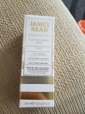 James Read H20 Gradual Tan Drops Face (30ml), Daily Skin-Care Brand New Free PP