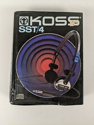 Koss SST/4 Stereophone Vintage 1985 Headphones in Box Tested Free Shipping!