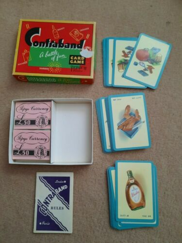 Old 1963 Vintage Pepys ** CONTRABAND ** Playing Cards Game SMUGGLING complete