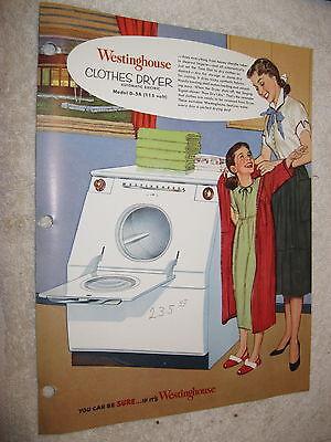 Westinghouse Clothes (1940's WESTINGHOUSE AUTOMATIC ELECTRIC MODEL D-5A CLOTHES DRYER)